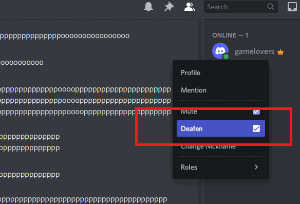 how to verify that discord deafen is enable